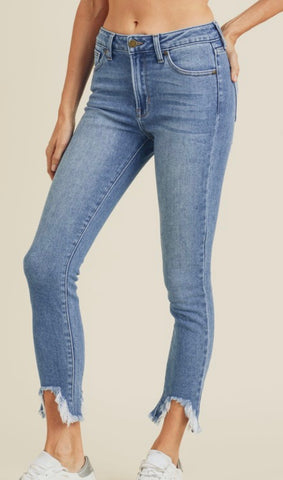 High Rise Skinny w/ peak denim jeans