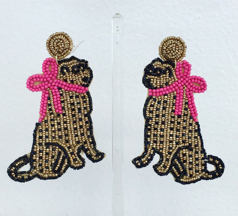 Leopard Ladies Beaded Earrings