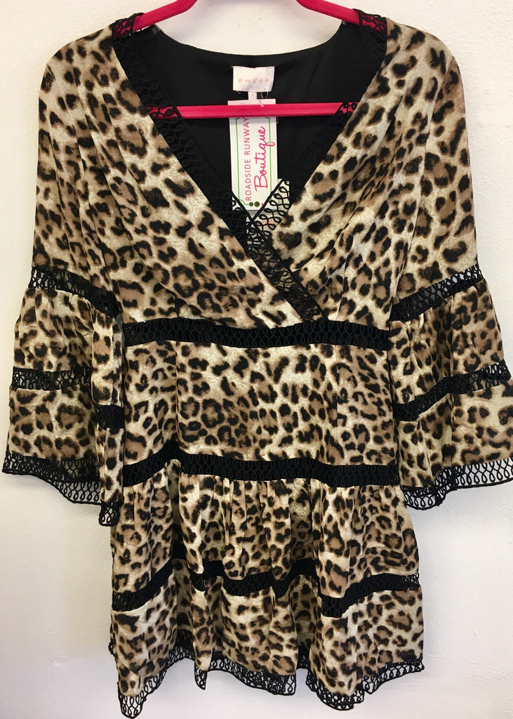 Lacy Leopard Dress
