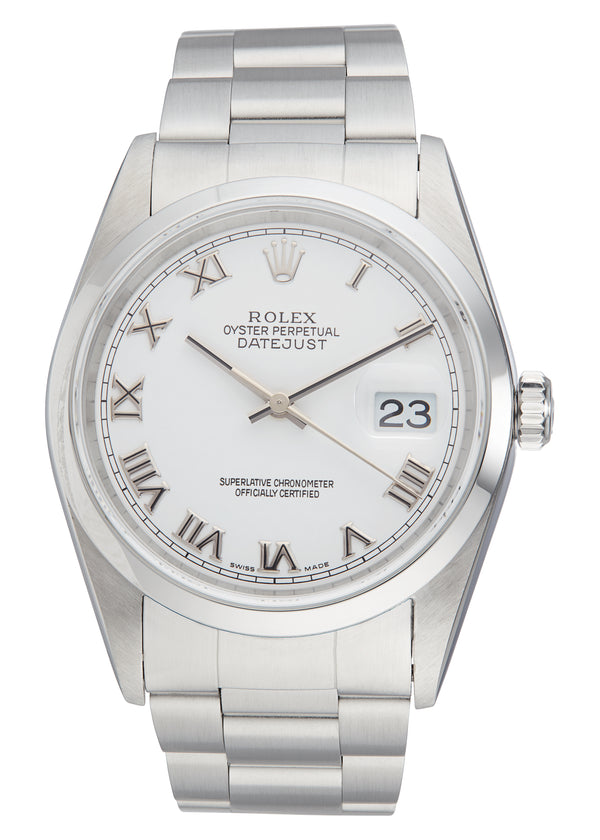 Rolex Datejust 36, White Roman Numeral Dial. Ref: 16200 (Papers 2005)
