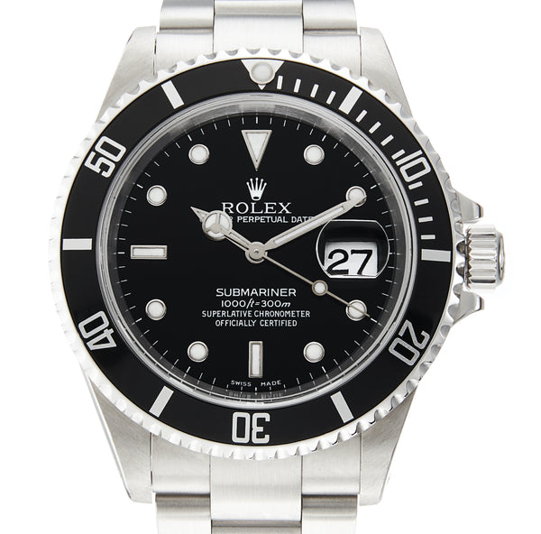 Rolex Steel Submariner Date Ref: 16610 (Papers 2002)