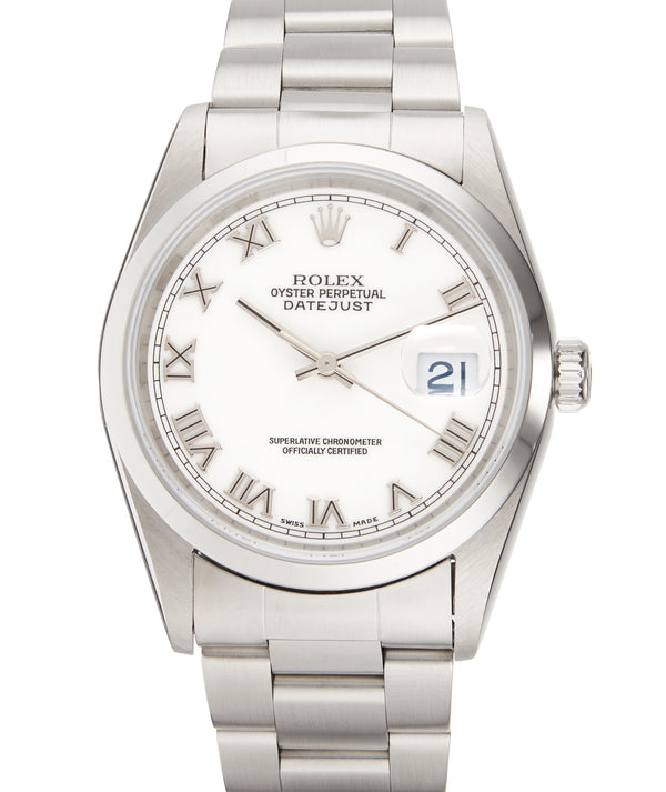 Rolex Datejust 36, White R/N Dial. Ref: 16200 (Papers 1998)