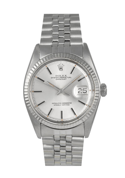 Rolex Datejust Steel Watch with Silver Dial, Ref: 1601 (1975)