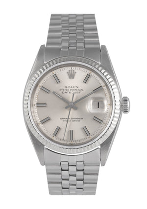 Rolex Datejust Steel Watch with Silver Dial, Ref: 1601 (1971)
