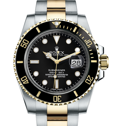 Rolex Submariner Date Steel & Gold, Black Dial. Ref: 116613LN