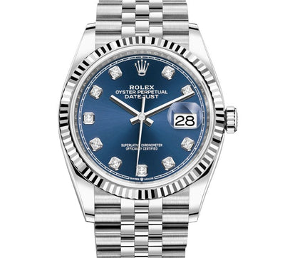 Rolex Datejust 36 Blue Diamond Dial, Ref: 126234 (Unworn 2020)