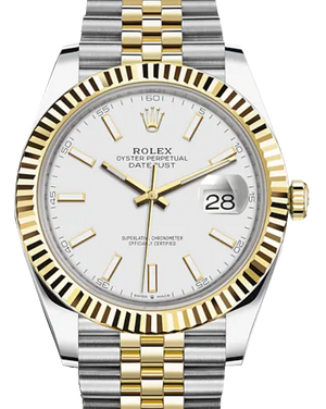 Rolex Datejust 41, Steel & Gold, White Dial (Unworn 2020)