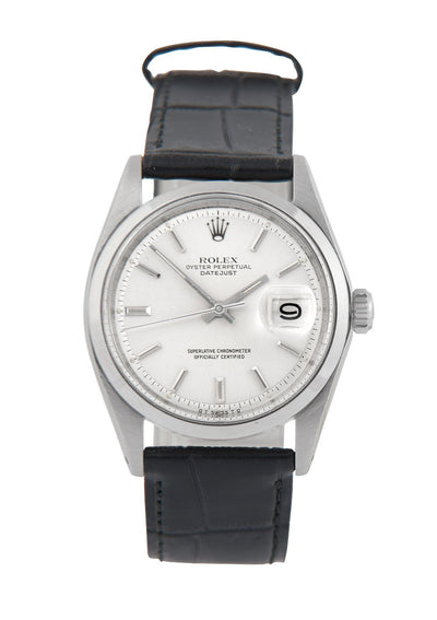 Rolex Datejust Steel Watch with Silver 'Sigma' Dial Ref: 1600