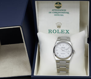 Rolex Datejust Oysterquartz, White Roman Numeral Dial. Ref: 17000 (Original Papers 1987)