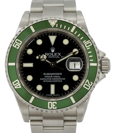 Rolex 50th Anniversary 'kermit'. 2008 full set, main image. 16610lv