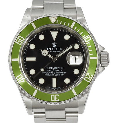 Rolex Submariner Date 'Kermit' Faded Lime Insert. Ref: 16610LV (Lovely Set)