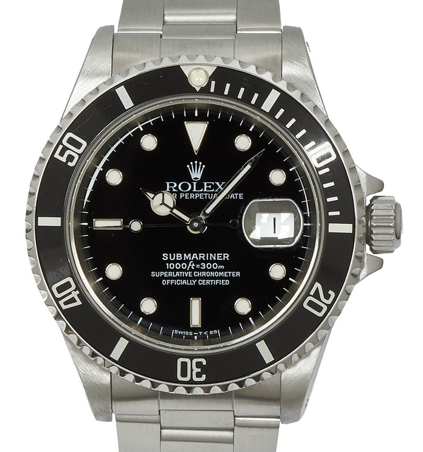 Rolex Submariner Date in Stainless Steel. Ref: 16610 (1997)