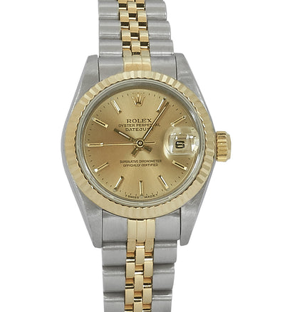 Rolex Ladies Datejust Steel & Gold, Champagne Dial. Ref: 69173 (1996)