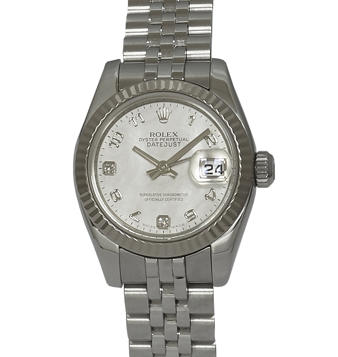 Rolex Lady-Datejust, MOP Diamond Dial. Ref: 179174 (Papers & Service Papers)