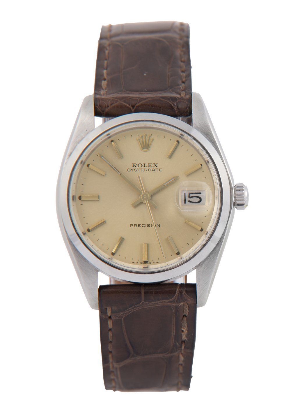 Rolex Oysterdate Steel Watch with Champagne Dial, 6694