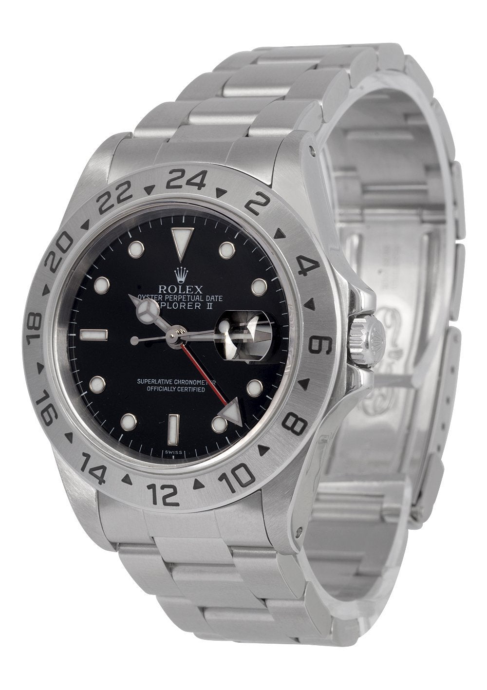 b11280c4988 Rolex Explorer II Watch Black Dial Ref: 16570 With Papers (Swiss Only)