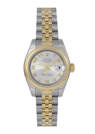 Rolex Lady-Datejust Watch, Silver Concentric Dial, Ref: 179163, Papers
