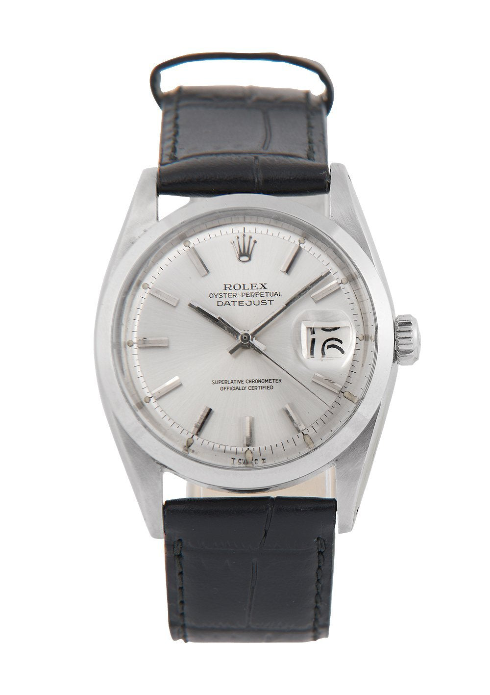 Rolex Datejust Steel Watch with Silver Dial Ref: 1600