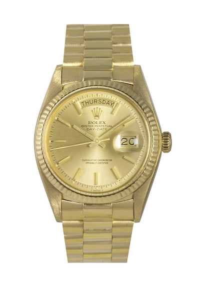 Rolex 18k Day-Date Watch Champagne Dial Ref: 1803
