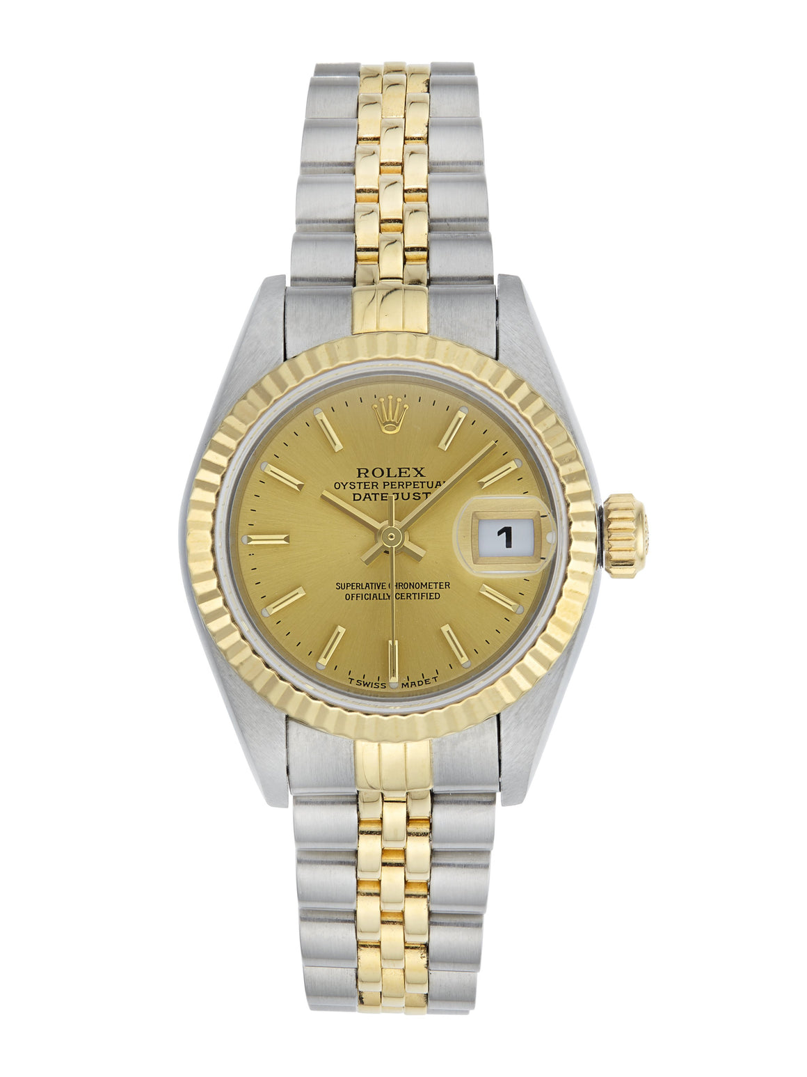 Rolex Datejust Ladies Watch Steel & Gold, Champagne Dial 79173 (Papers)