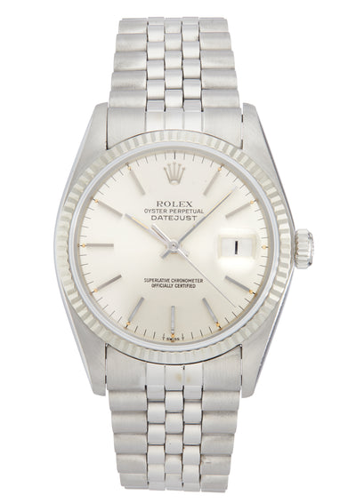 Rolex Datejust Steel Watch with Silver Dial, Ref: 16014 (1978)