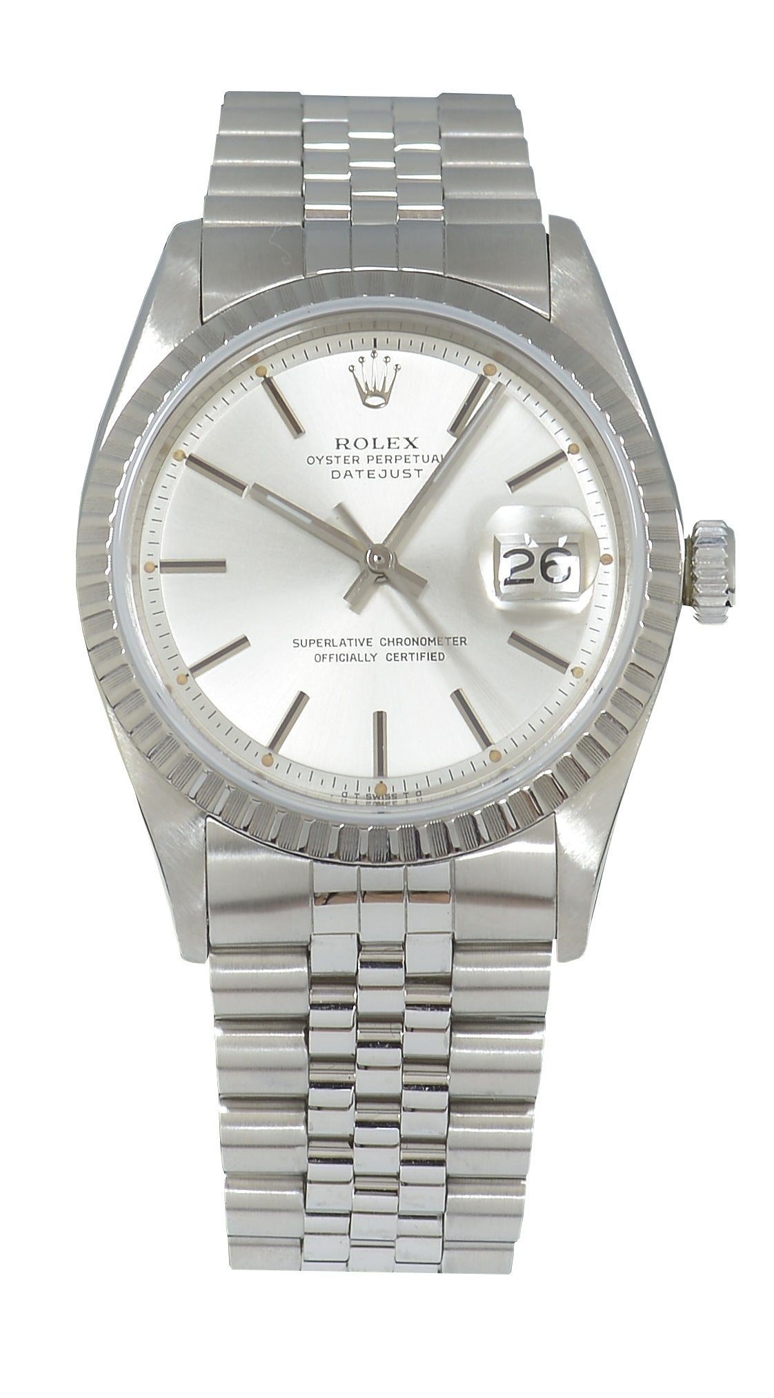 Rolex Datejust Steel Watch with Silver Dial, Ref: 1603 (1978) Papers