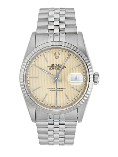Rolex Datejust with Silver Pinstripe Dial, Ref: 16234