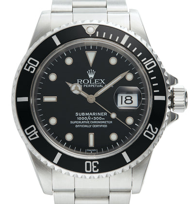 Rolex Steel Submariner Date, Swiss Only Dial (Ref: 16610)
