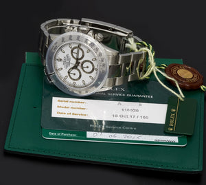 Rolex Daytona, White 'APH' Dial. Box, Papers & Tags