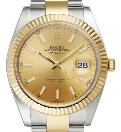 Datejust 41, Steel & Gold, Champagne Dial. Unworn 2020
