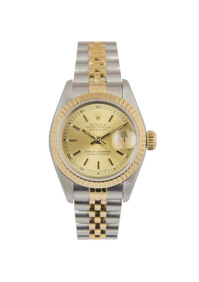 Rolex Ladies Datejust Steel & Gold, Champagne Dial. Ref: 69173