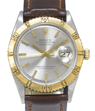 Rolex Datejust Turn-O-Graph Watch, Bimetal, Grey Step Dial Ref: 1625