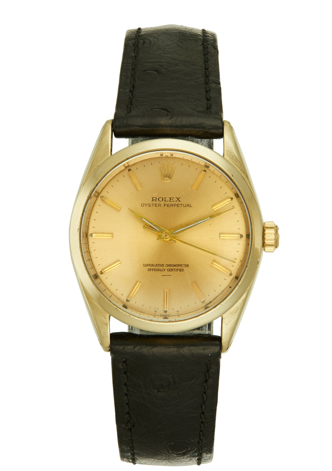 Rolex Oyster Perpetual Watch, Steel & Gold-Capped, Underline Dial