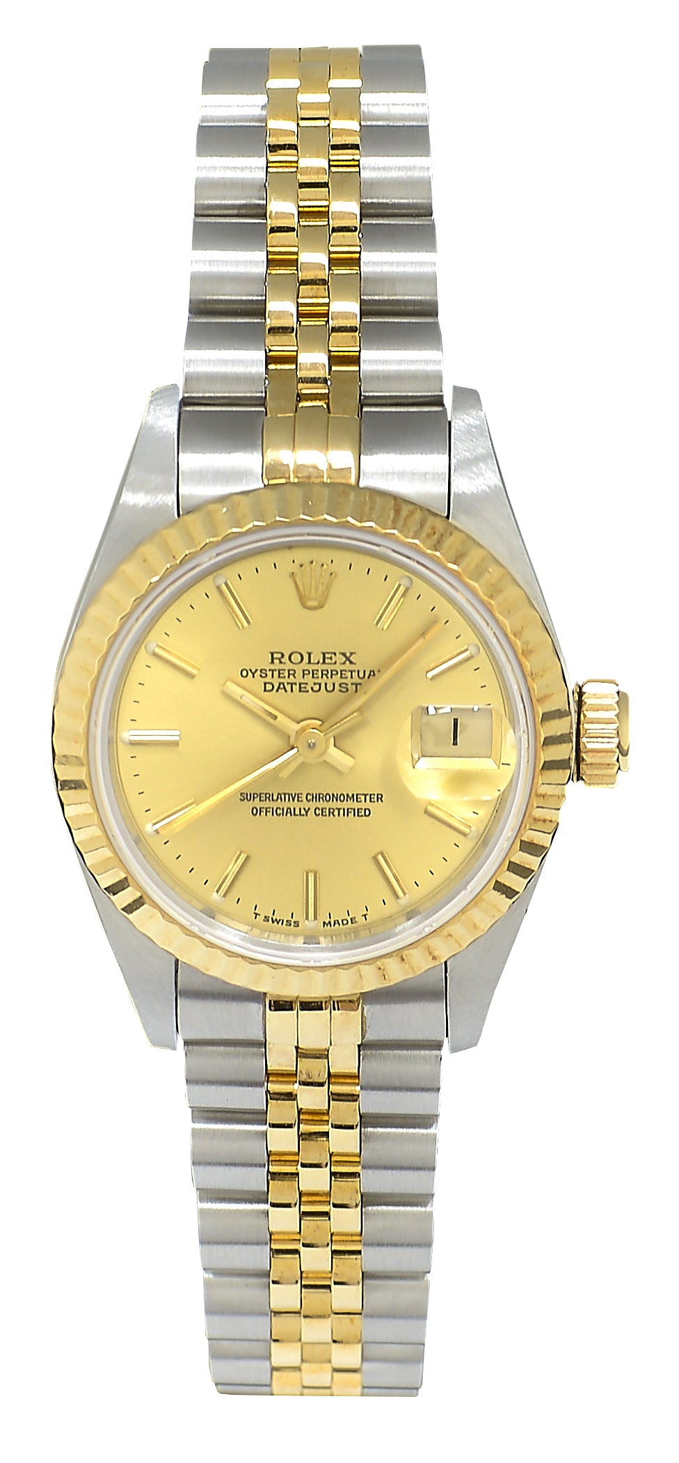 Rolex Datejust Ladies Bimetal with Champagne Dial, 69173