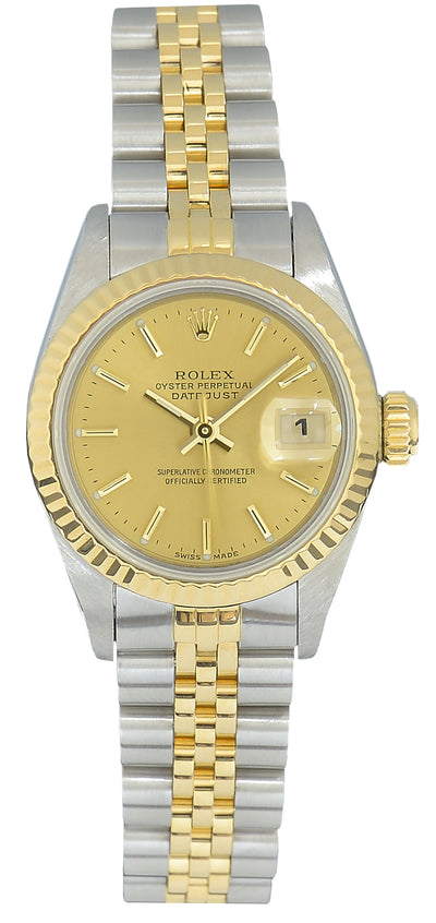 Rolex Datejust Ladies Steel & Gold Watch with Champagne Dial, Ref: 69173