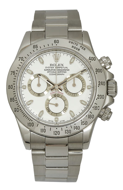 Rolex Stainless Steel Daytona, White Dial 116520