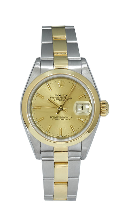 Rolex Datejust Ladies Bimetal with Champagne Dial, 79163