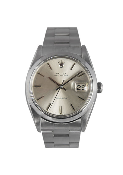 Rolex Oysterdate Steel Watch with Silver Dial, Ref: 6694