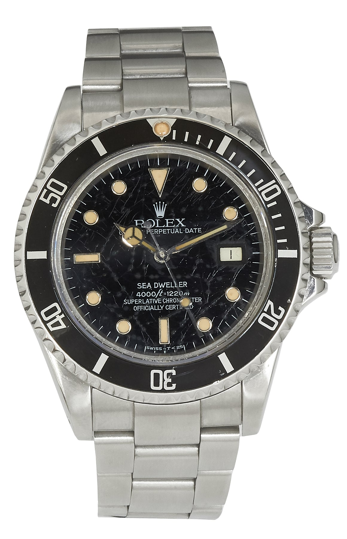 Rolex Sea-Dweller, Triple 6, Spider Dial with Patina. Ref: 16660