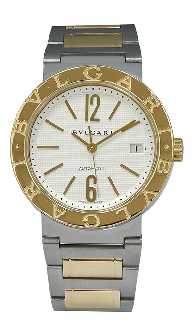 Bulgari Steel & Gold Automatic, White Dial. Ref: BB38SG