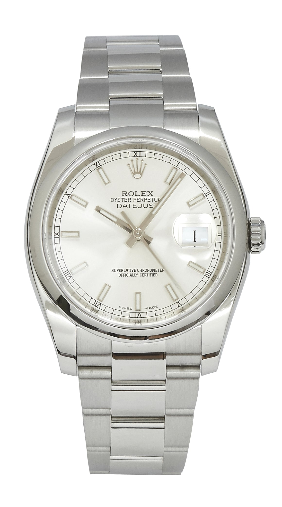 Rolex Datejust Silver Dial, B&P (2015)