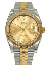 Rolex Gents Datejust 36 in Steel & Gold, Champagne Dial