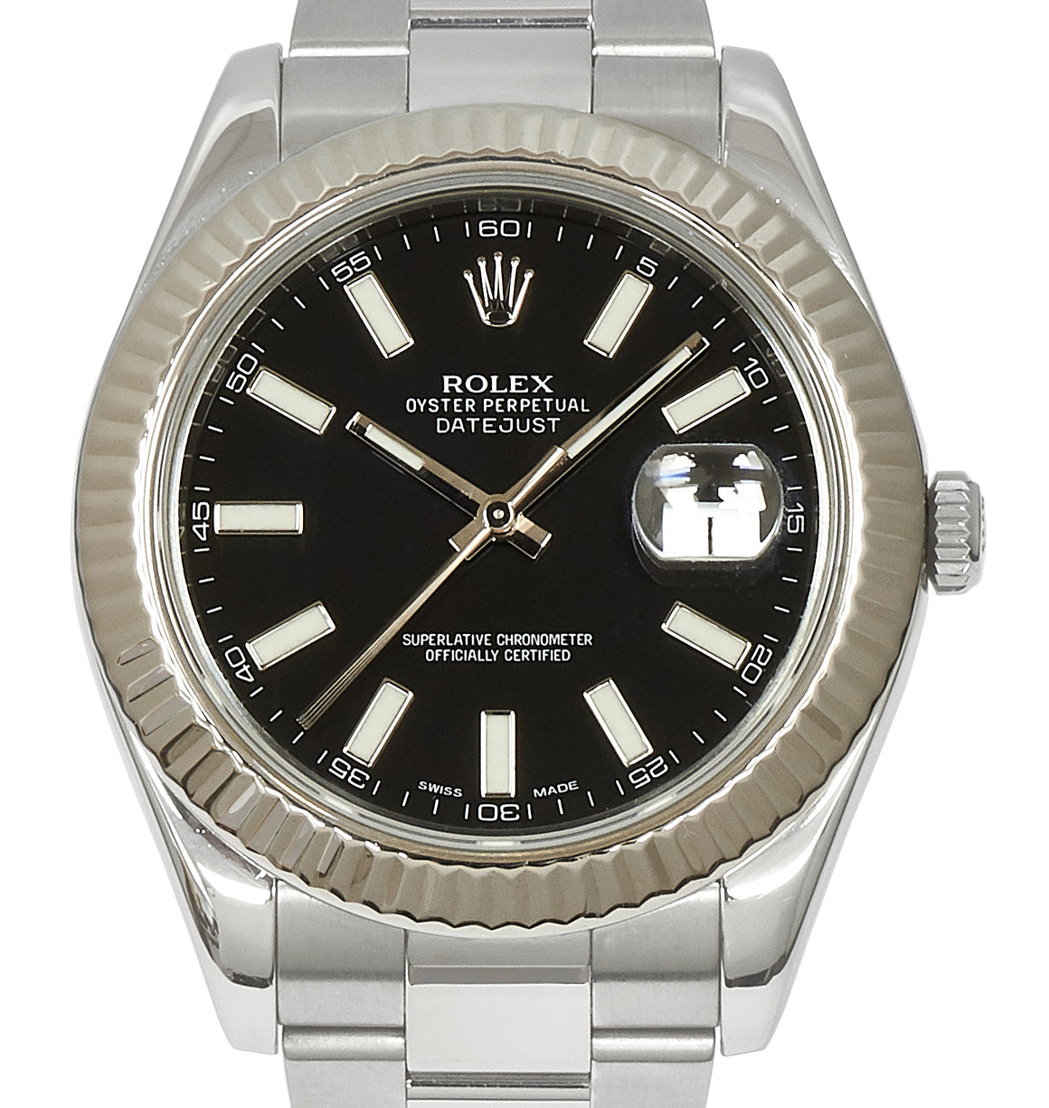 Rolex Datejust II, Black Dial. Ref: 116334 (Guarantee & Service Card)