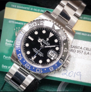 "Rolex GMT-Master II ""Batman"", Ref: 116710BLNR (Unworn Stickers 2019)"