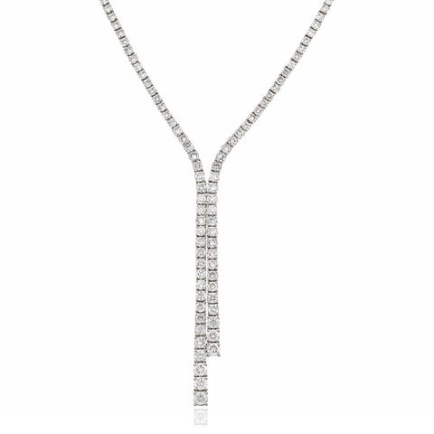 18ct White Gold Diamond Necklace 7.50ct