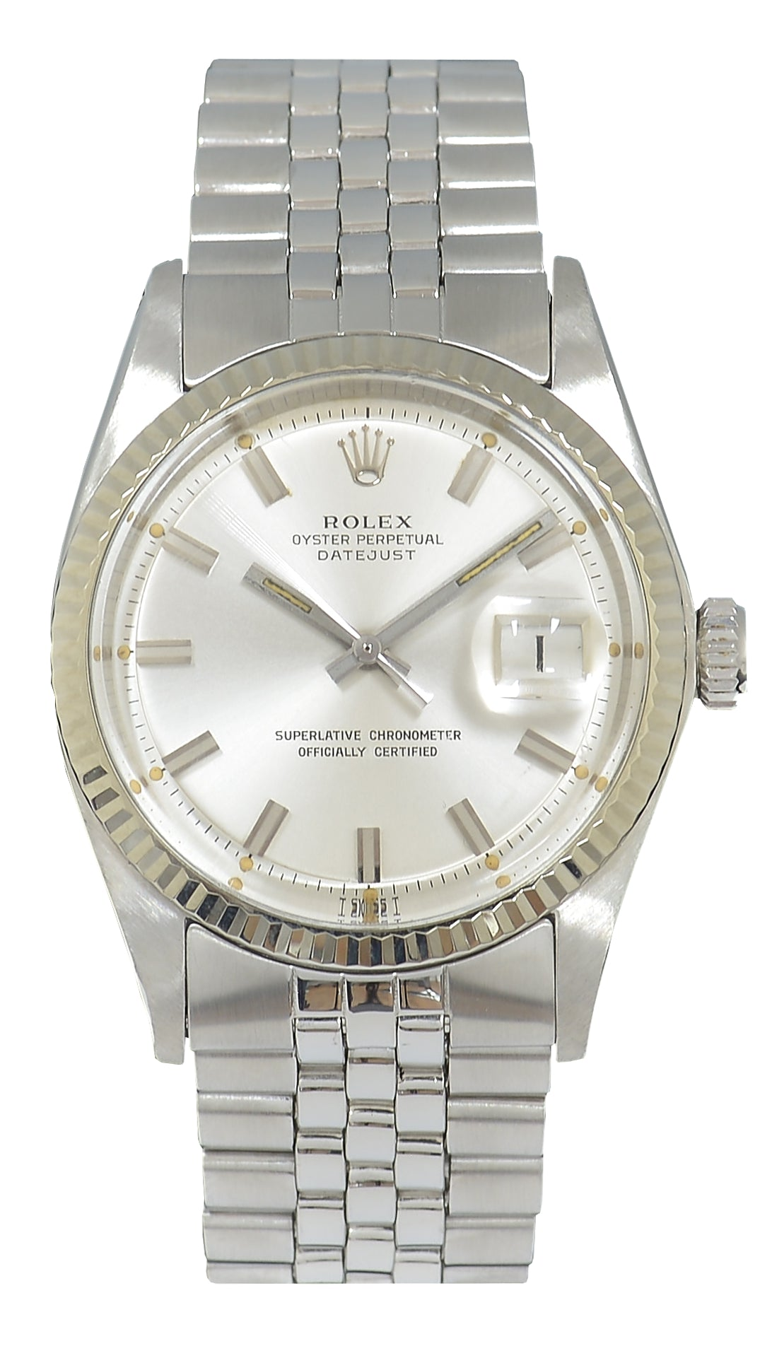 Rolex Datejust Steel Watch with Silver Dial, Ref: 1601 (1973)