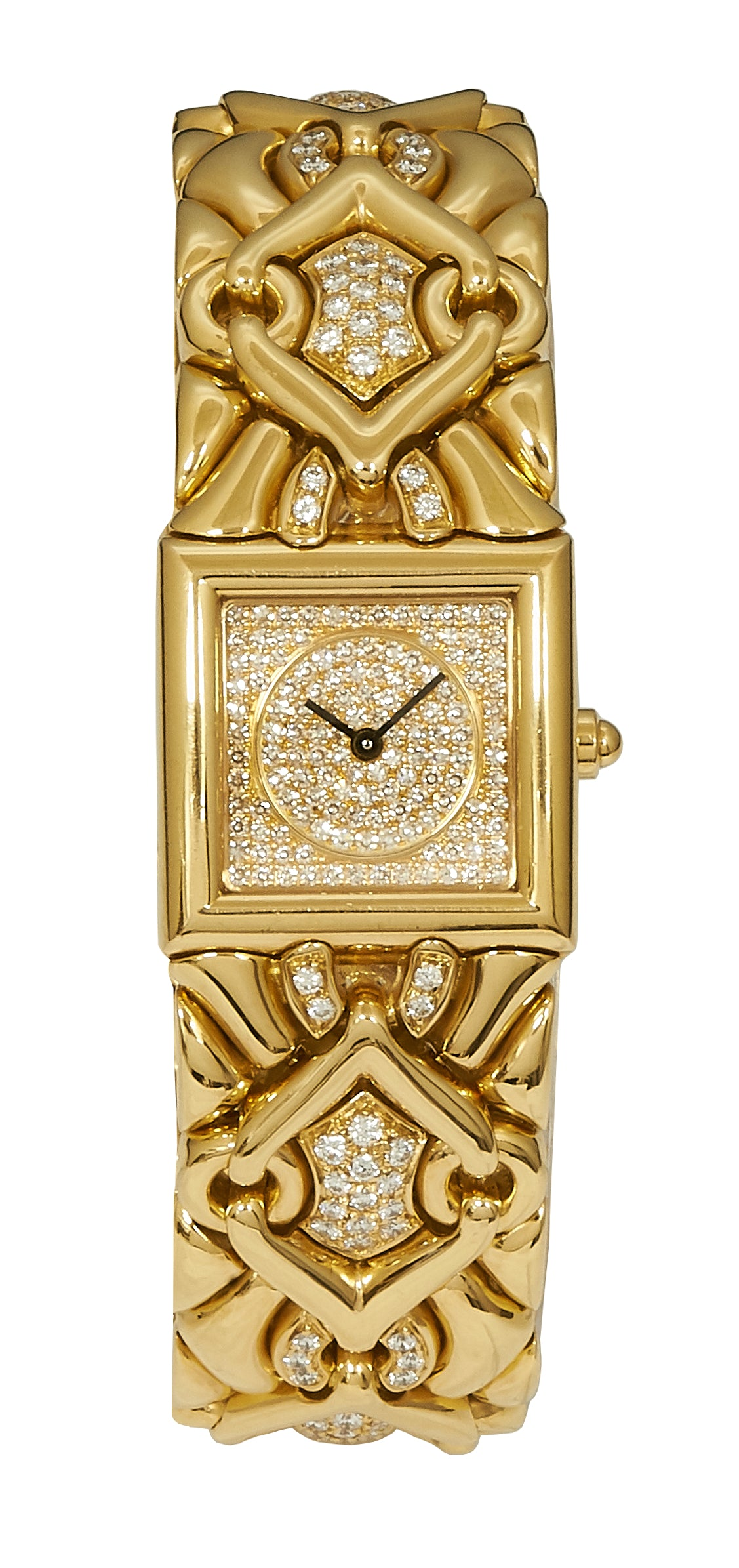 Bulgari Parentesi / Trika Yellow Gold, Diamond Dial & Bracelet BJ06
