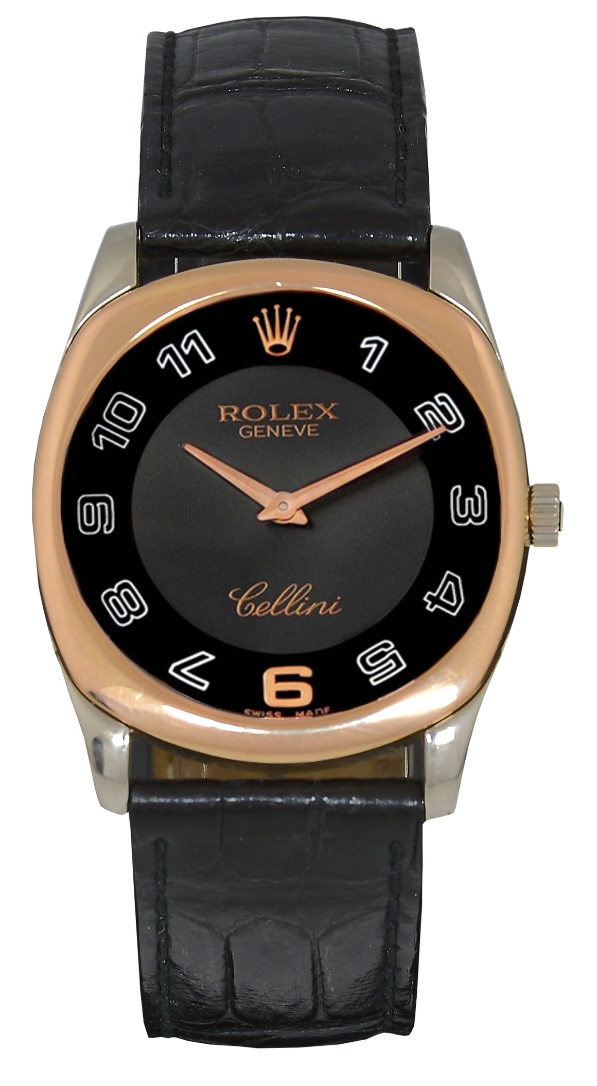Rolex Cellini Danao Watch 18k White & Rose Gold, Ref: 4233 Papers