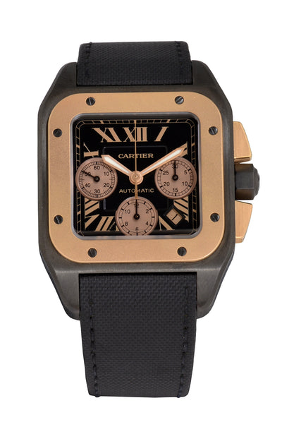 Cartier Santos 100, Titanium & Rose Gold