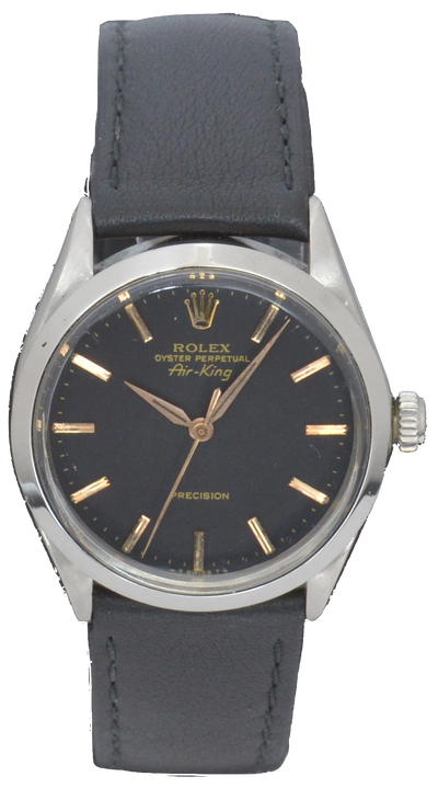 Rolex Vintage Air-King Watch with Pink Gold Arabic Numerals, Ref: 5500